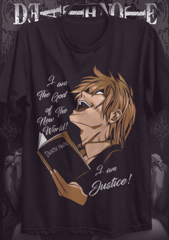 CAMISETA DEATH NOTE – GOD OF THE NEW WORLD